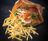 Bagel With Shrims And 5Mm Fries