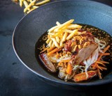 Duck With Super Fine Fries Of Farm Frites